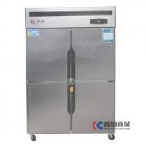 银都伊萨精致铜管款四门双机双温冰箱/食品冷柜