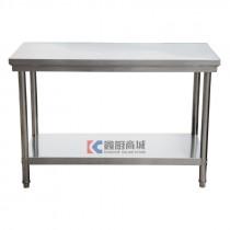 加厚双层平板工作台/操作台/打荷台1200x600x800mm, 201/1.0mm