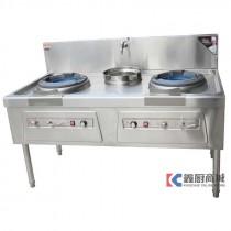 比特威双炒单温节能炒菜灶1500x800x800mm