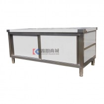 厨房不锈钢单通移门工作台/打荷台180x80x80mm,201/1.0mm